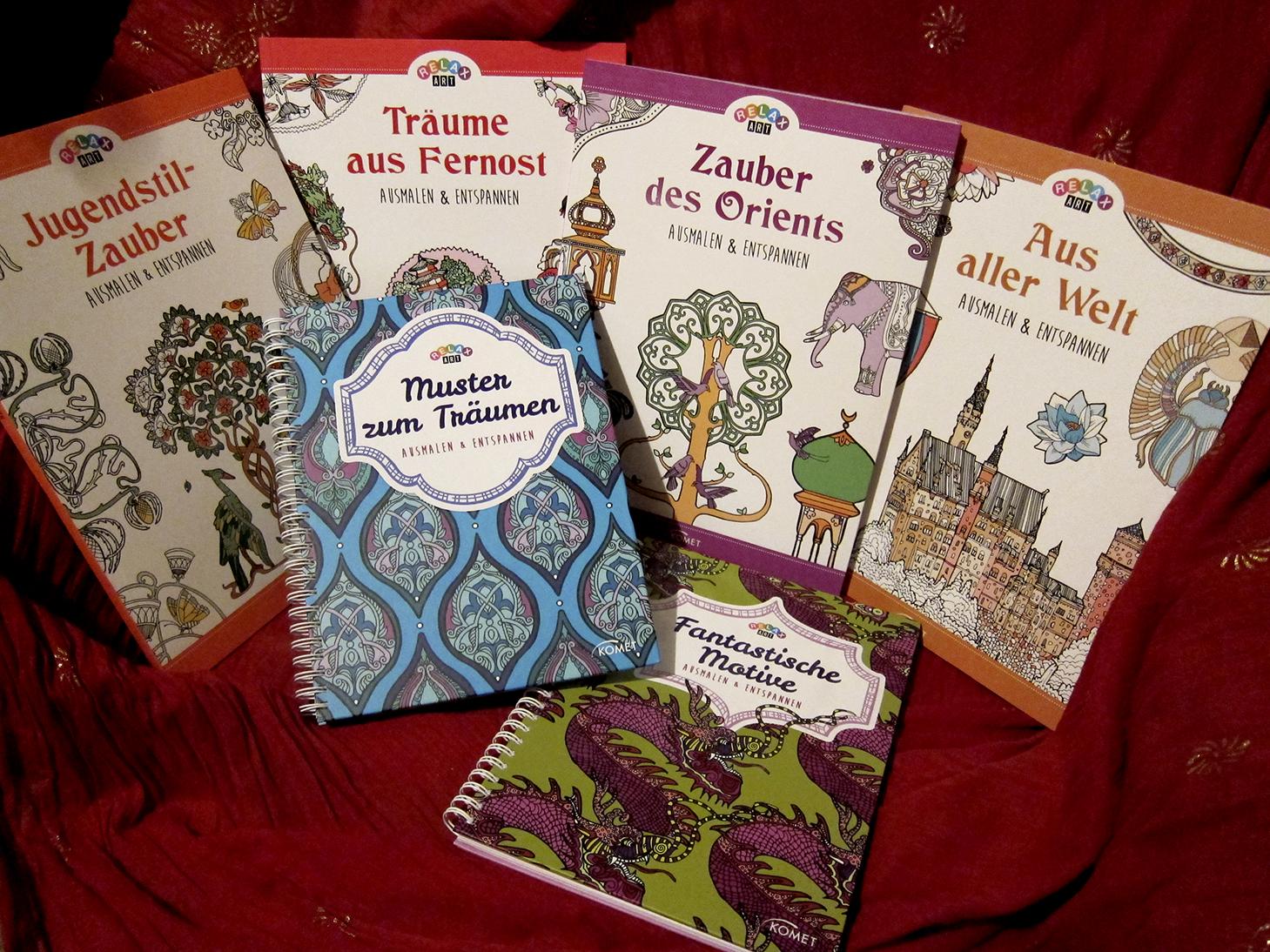 Auswahl Erwachsenen-Malbücher KOMET Verlag