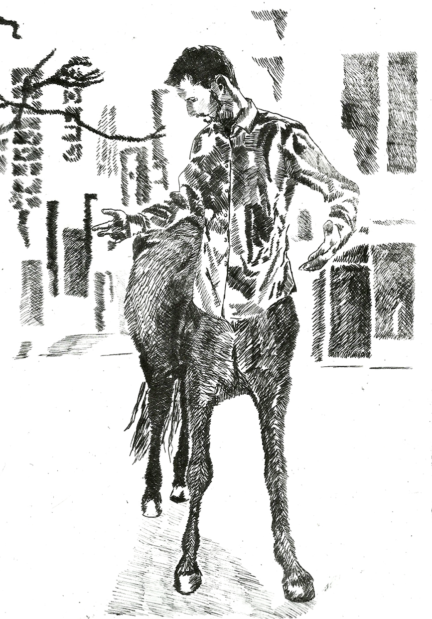 "Frauke Radermacher,""Urban Centaur"""